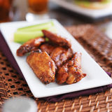 Plate of bbq chicken wings Royalty Free Stock Image