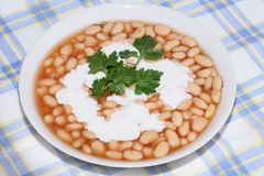 Plate with bean Stock Photo