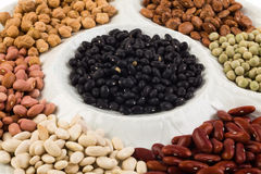 Plate of beans Royalty Free Stock Image