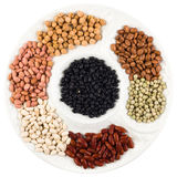 Plate of beans Royalty Free Stock Images