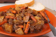 Plate of Beef Stew Royalty Free Stock Photos