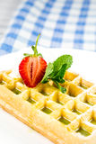 Plate of belgian waffles Royalty Free Stock Photo