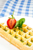 Plate of belgian waffles Royalty Free Stock Image