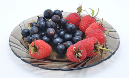Plate with berries Royalty Free Stock Images