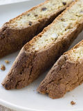 Plate of Biscotti Royalty Free Stock Photography