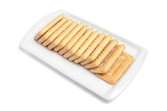 Plate of Biscuits Stock Photos