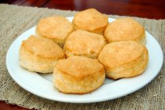 Plate of biscuits Royalty Free Stock Photography