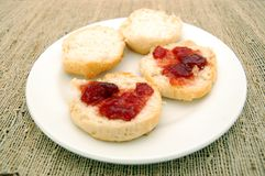 Plate of biscuits Stock Photo