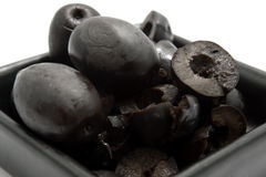 Plate black olives Royalty Free Stock Photos
