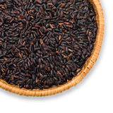 Plate with black rice Stock Image