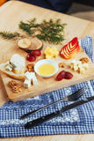 Plate with blue cheese Dor, parmesan, Brie Royalty Free Stock Image