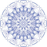 Plate blue ornament Royalty Free Stock Images