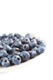 Plate with blueberries  Royalty Free Stock Photos