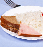 Plate of boiled rice Royalty Free Stock Photo