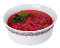Plate borsch Royalty Free Stock Photos