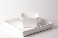 Plate and bowl Stock Images