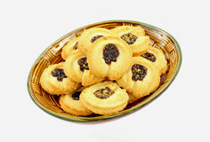 Plate of Boysenberry Cookies at an Angle. A plate of boysenberry cookies at an angle stock image