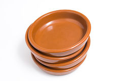 Plate brown Stock Images