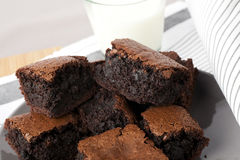 Plate of Brownies Stock Photos