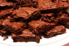 Plate of brownies Stock Photography