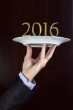 2016 on a plate Stock Photos