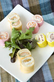 Plate of canape Stock Photos