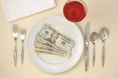 Plate of Cash royalty free stock photos