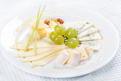 Plate of cheese Stock Image