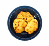 Plate Cheese Biscuits Stock Photos
