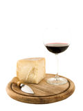 Plate with cheese and wine Royalty Free Stock Photo