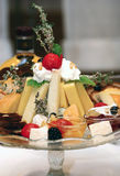 Plate with cheeses Stock Photography