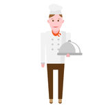 Plate chef Royalty Free Stock Images