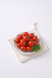 Plate of cherry tomatoes Royalty Free Stock Image