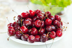 The plate of cherry Stock Photo