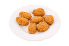 Plate of chicken nuggets Royalty Free Stock Image
