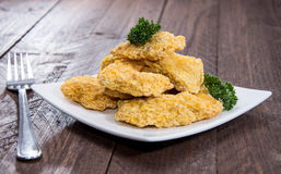 Plate with Chicken Nuggets Stock Photo