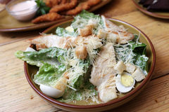 Plate with chicken salad Stock Images