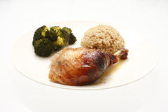 Plate of chicken and sides Stock Photography