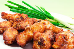 A plate of chicken wings. (shallow dof Royalty Free Stock Image