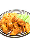 Plate of chicken wings vertical Royalty Free Stock Image