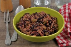 A plate of chili con carne stock image