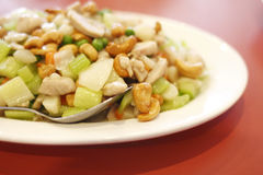 Plate of Chinese cashew chicken Stock Photo
