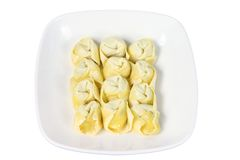 Plate of Chinese Dumplings Stock Image
