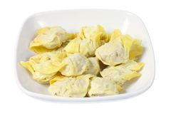 Plate of Chinese Dumplings stock photography