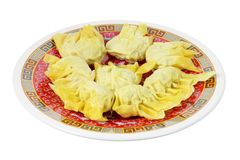 Plate of Chinese Dumplings Stock Images