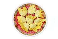 Plate of Chinese Dumplings Royalty Free Stock Photography
