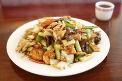 Plate of Chinese food Stock Photos