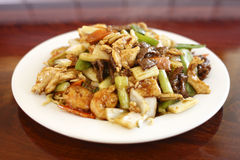 Plate of Chinese food Stock Photography