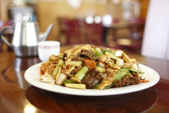 Plate of Chinese food Stock Image