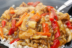 A plate of chinese food Royalty Free Stock Photography
